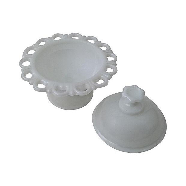 Image of Milk Glass Covered Compote