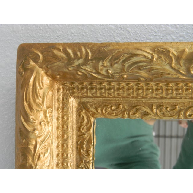 Image of Hand Carved Gold Mirror