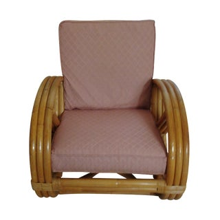 Paul Frankl Style Bamboo & Rattan Chair