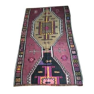 Antique Anatolian Kars Kilim Rug - 4′2″ × 6′7″