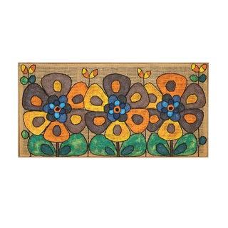 Flower Power Oil Painting on Burlap