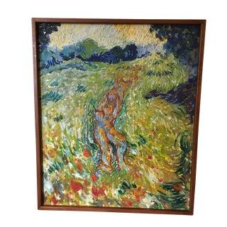 Post-Impressionist Painting on Canvas