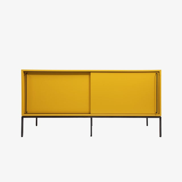 Customizable Re: 379 Grass Green Lacquered Credenza on Brass base - Image 5 of 9