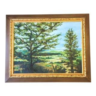Modern Acrylic Framed Landscape Painting by John-Richards