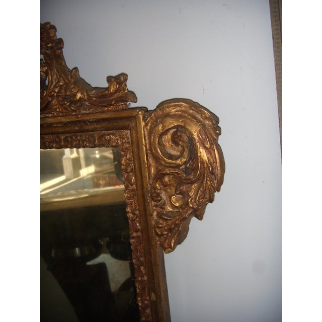 Antique Italian Gilt Cherub Mirror - Image 8 of 10