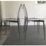 Image of Acrylic and Chrome Dining Chairs - Set of 4