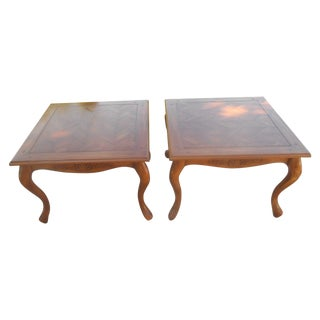 Hi-End French Country End Tables - A Pair