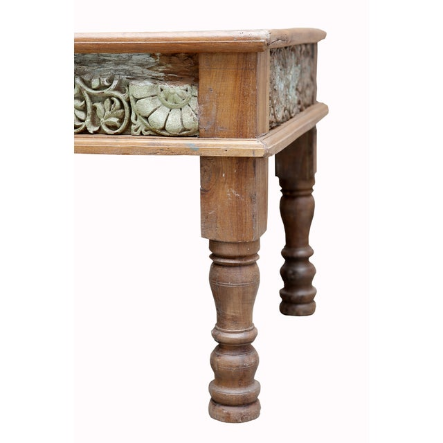 Verde Antique Architectural Panel Coffee Table - Image 5 of 7
