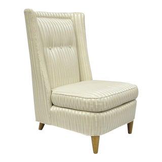 Vintage Edward Wormley for Paul McCobb Mid-Century Modern Upholstered Slipper Lounge Chair