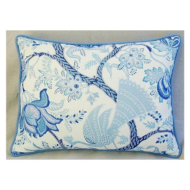 Designer Stroheim Jaidee Blue/White Pillows - Pair - Image 7 of 8