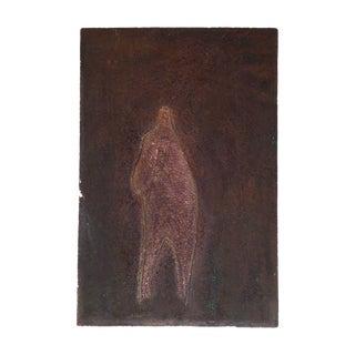 """Paul Lingren """"Figure"""" Vintage Printing Plate"""
