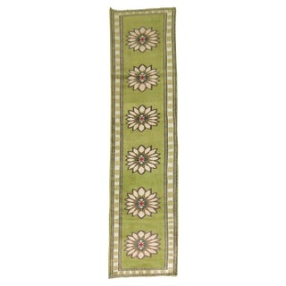 Lime Green Vintage Konya Runner - 2'4'' X 11'4''