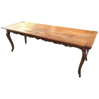 Long Italian Farm Table with Scalloped Apron