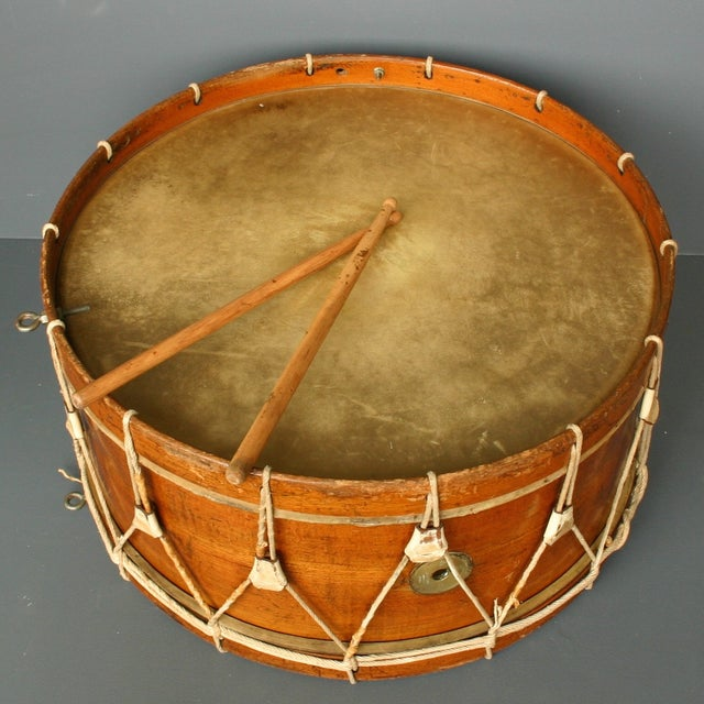Antique Wooden Drum From Belgium - Image 2 of 5