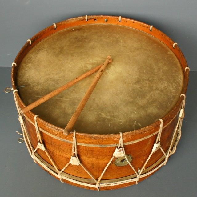 Image of Antique Wooden Drum From Belgium
