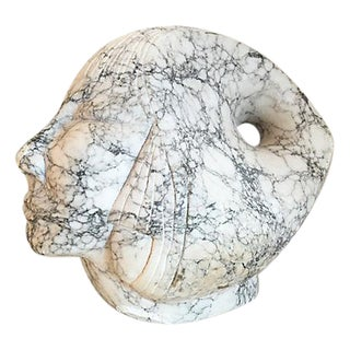 Marble Woman Head Sculpture