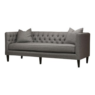 "Spectra Home Modern Dark Gray 84"" Tuxedo Bench Seat Sofa"