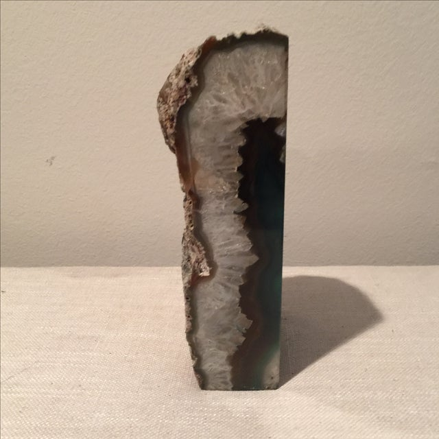 Emerald Green Agate Bookend - Image 6 of 7