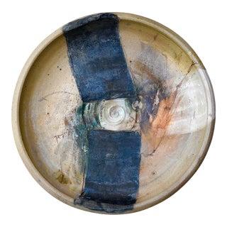 Sandra Johnstone Mid Century Modern Ceramic Art Plate