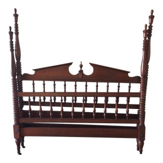 Antique Jenny Lind Spool/Spindle Poster Mahogany Full Bed Frame