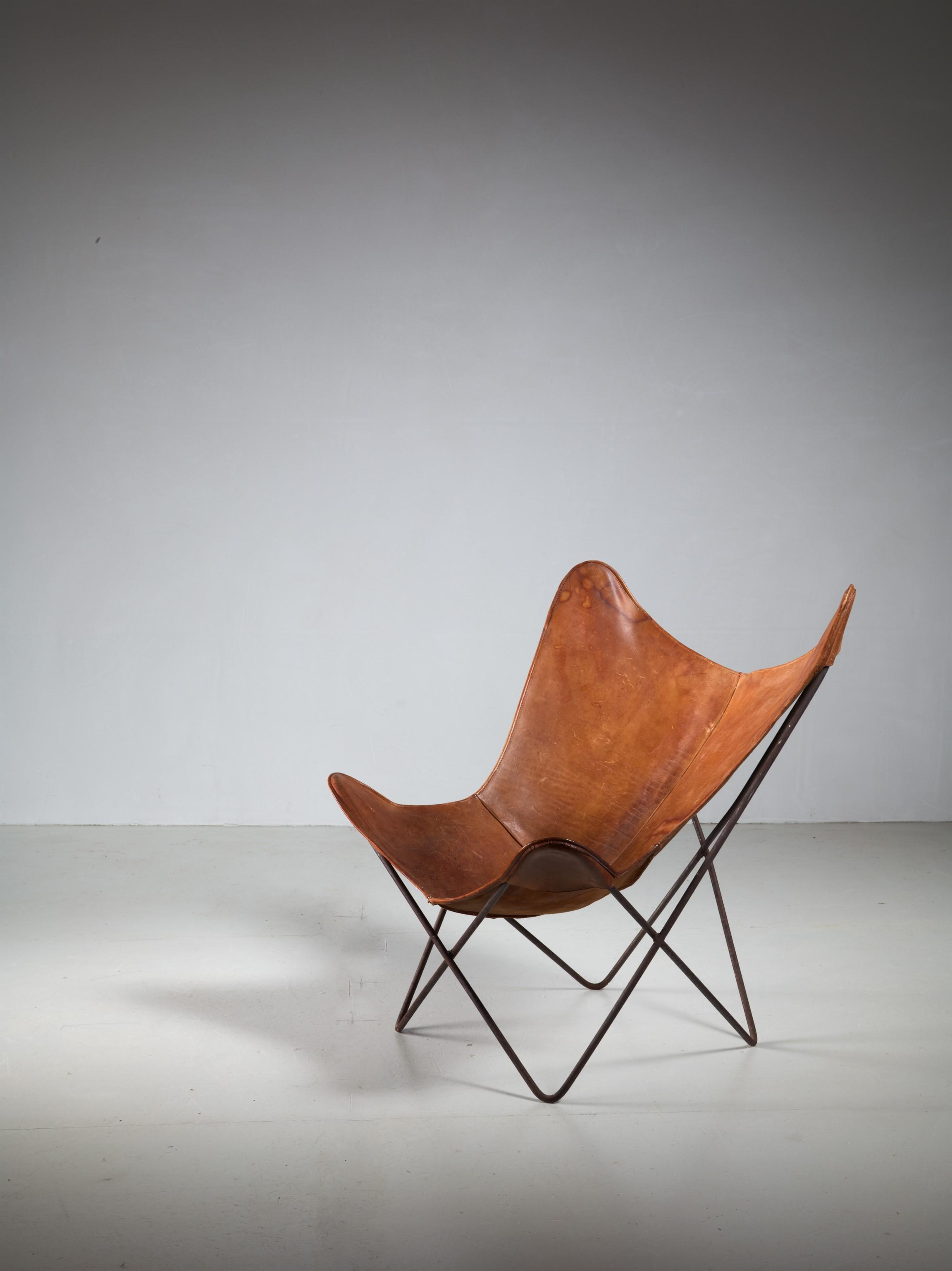 Jorge Ferrari Hardoy Butterfly Chair For Knoll, 1950s   Image 2 Of 4