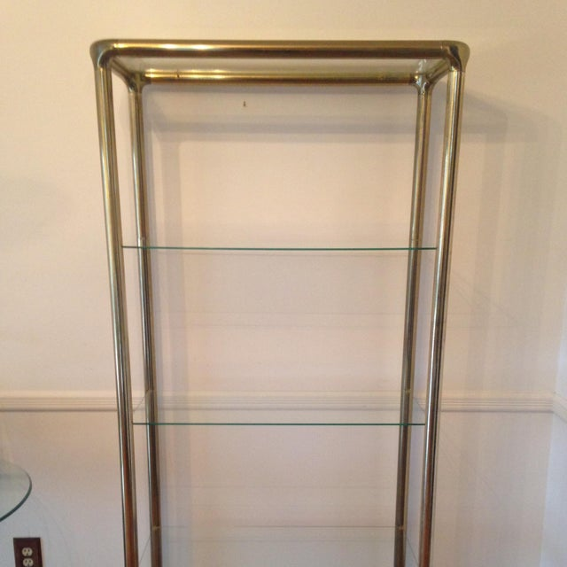 Brass Etagere in the Manner of John Widdicomb - Image 3 of 9