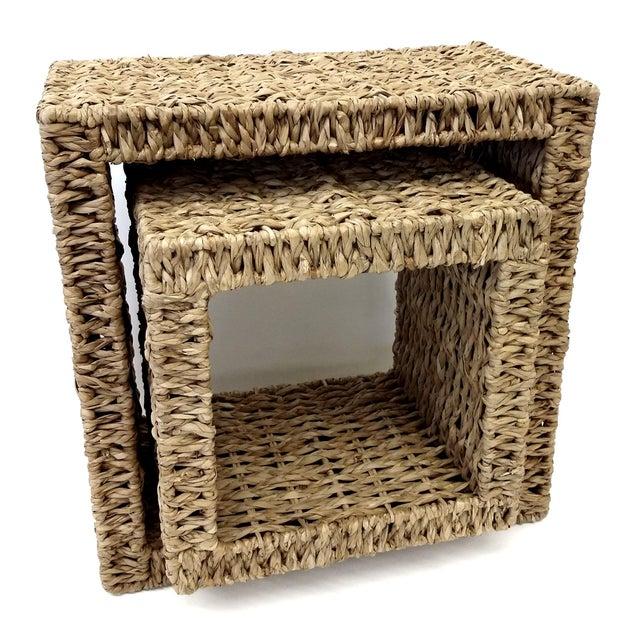 Sea Grass Shadow Box Shelves- A Pair - Image 4 of 5
