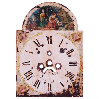 Antique Hand-Painted English Clock Face