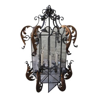Hand Wrought Spanish Style Iron Lantern