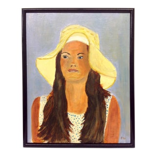 Girl in a Sunhat Oil Portrait