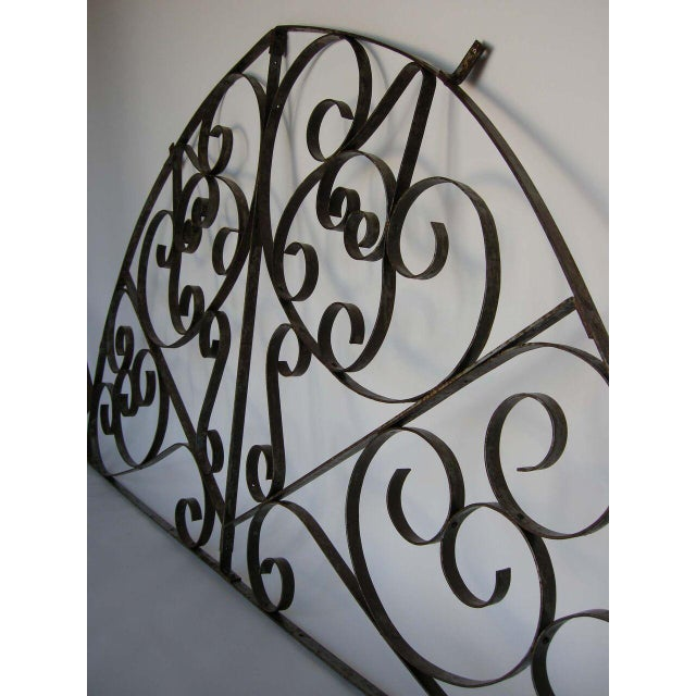 Large Scale Decorative Iron Architectural Arch - Image 4 of 10