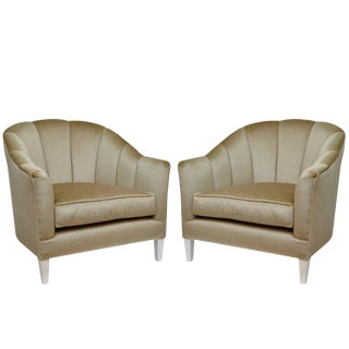 Lounge Chairs in Luxurious Mohair - A Pair
