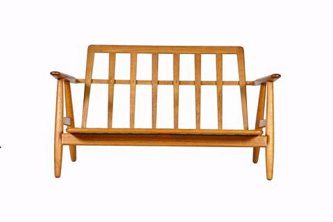 Hans J. Wegner For GETAMA GE 240 Cigar Sofa In Oak   Image 5 Of