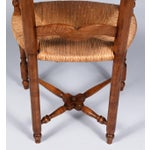 Image of 1920s French Country Rush Seat Armchair