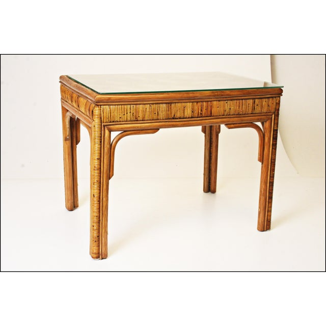 Mid-Century Bamboo Side & Coffee Tables - A Pair - Image 7 of 11