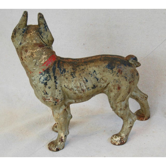 1940s Cast Iron Boston Terrier Dog Doorstop - Image 5 of 9
