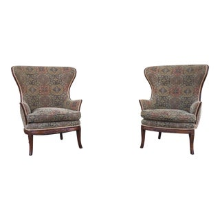 Mid-Century Wingback Chairs - A Pair