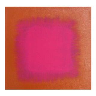 Pink on Orange Acrylic Painting