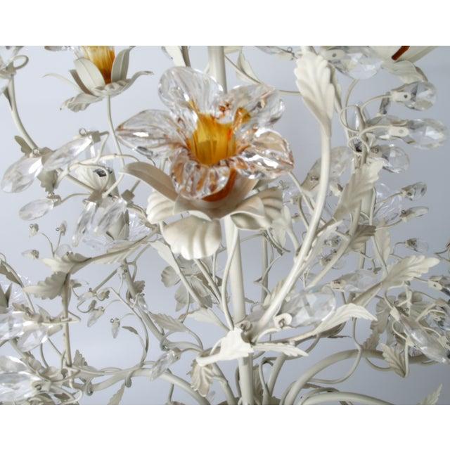 White Metal & Crystal Italian Chandelier - Image 4 of 11