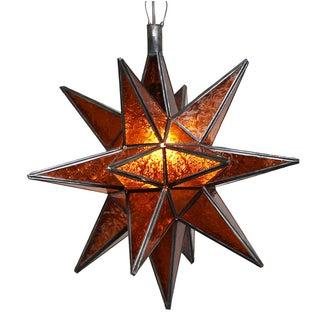 Moroccan Amber Star Lantern