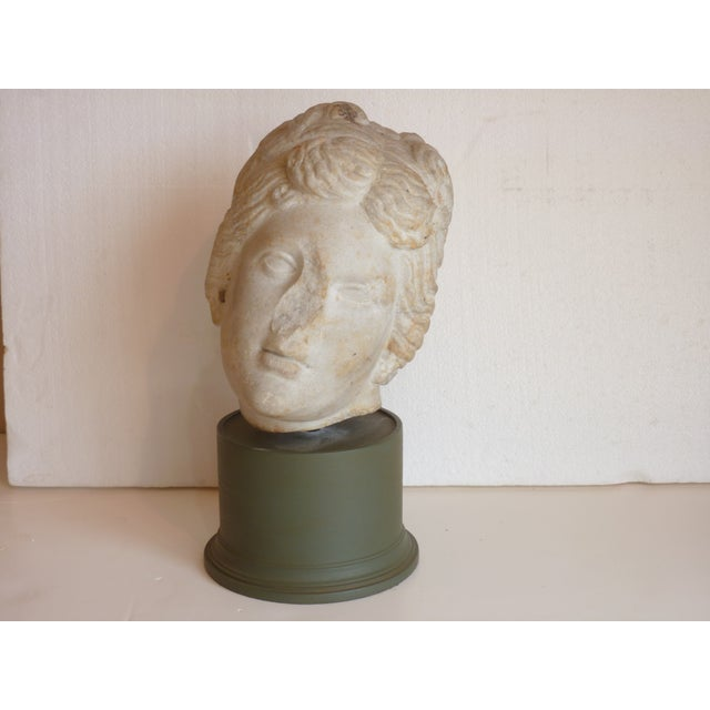 Image of Carved Stone Head of Goddess