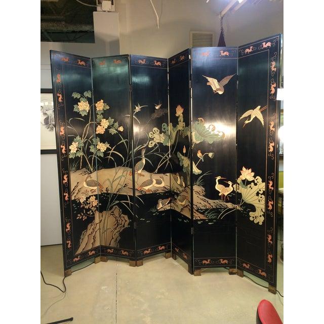 6 Panel Coromandel Folding Asian Screen - Image 2 of 8