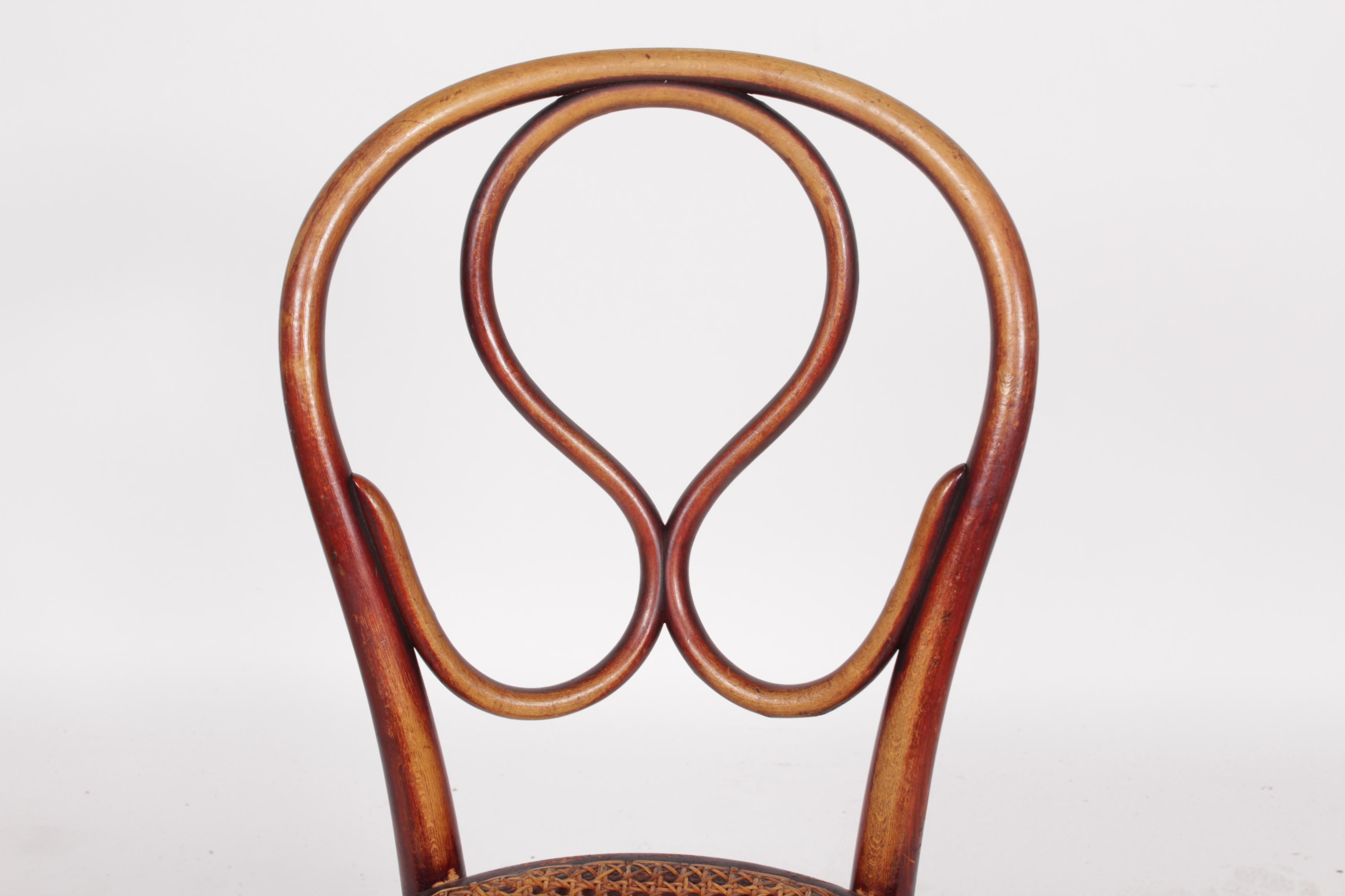 1920s thonet labeled bentwood chairs a pair image 4 of 8