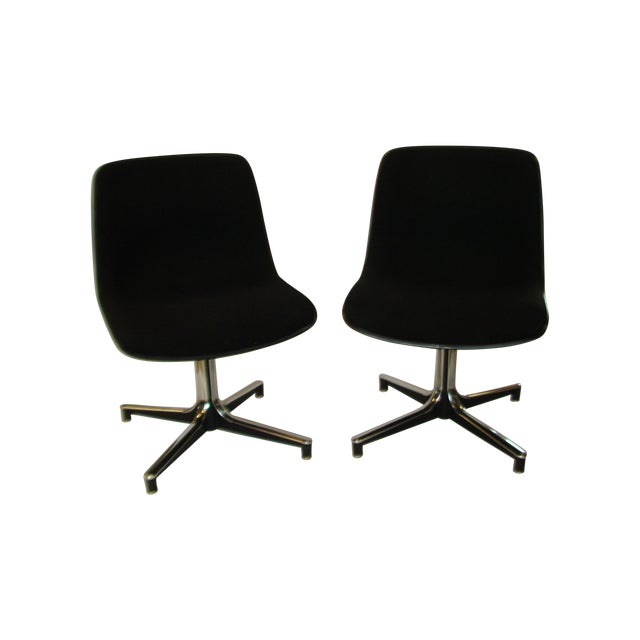 Vintage GF Chairs with Chrome Bases - A Pair - Image 1 of 5