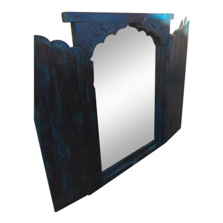 Rustic Double Paneled Wall Mirror