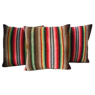 Mexican Serape Colorful Weaving Pillows