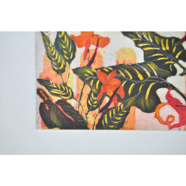 'Tropical Parrot' Colorful Monoprint - Image 7 of 8