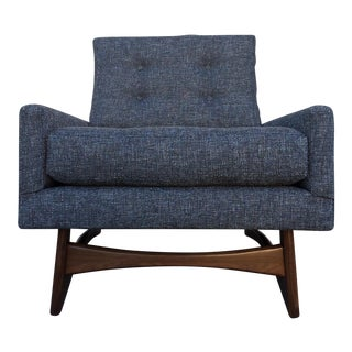 Mid-Century Style Gray Lounge Chair
