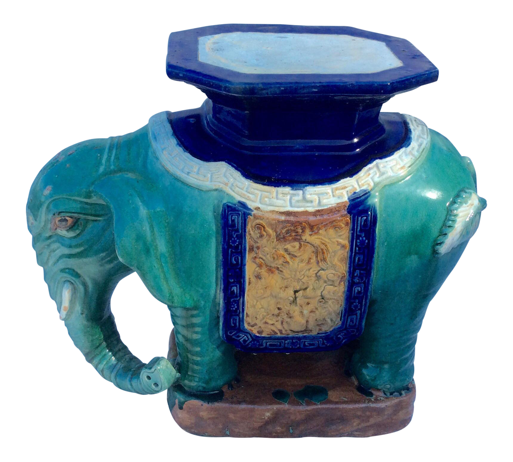 Vintage Ceramic Elephant Garden Seat Stool  sc 1 st  Chairish & Vintage u0026 Used Garden Stools | Chairish islam-shia.org