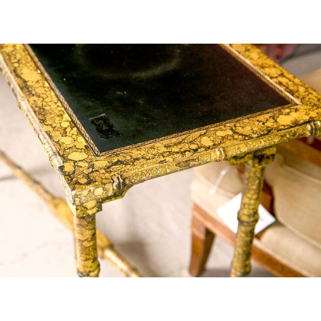 Bamboo Tortoise Coffee Table: Faux Bamboo Tortoise Painted Console Table